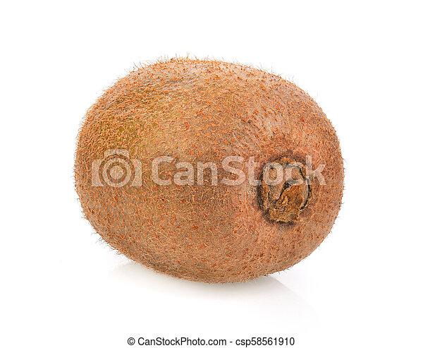 kiwi fruit on white background - csp58561910