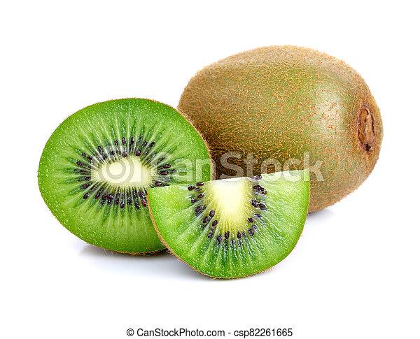 kiwi fruit on white background - csp82261665