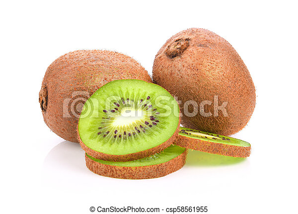 kiwi fruit on white background - csp58561955