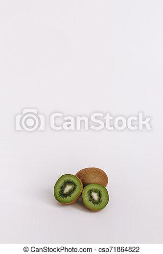 Kiwi fruit on white background - csp71864822