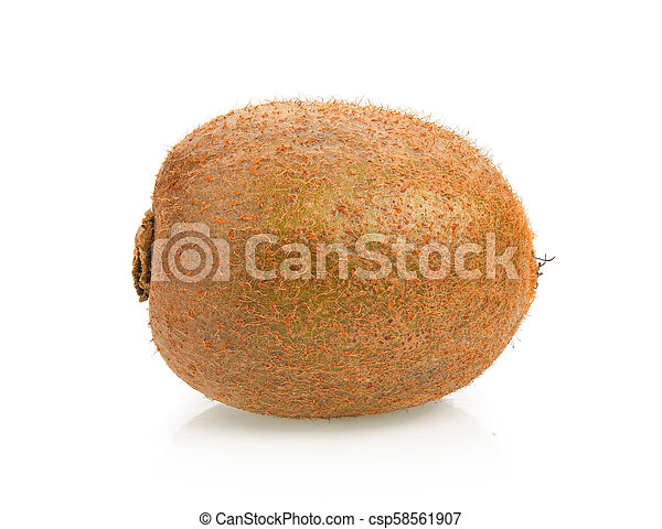 kiwi fruit on white background - csp58561907