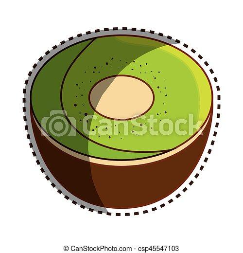 Dibujo Kiwi Fruta