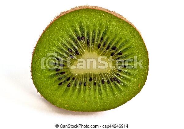 Kiwi on a White Background - csp44246914