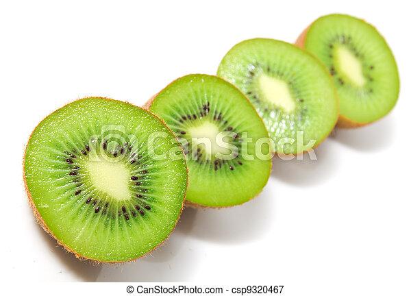 kiwi on a white background - csp9320467