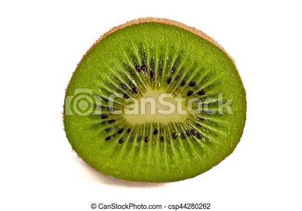 Kiwi on a White Background - csp44280262