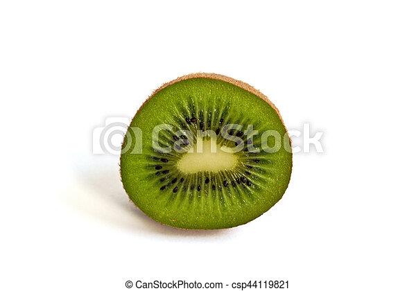 Kiwi on a White Background - csp44119821