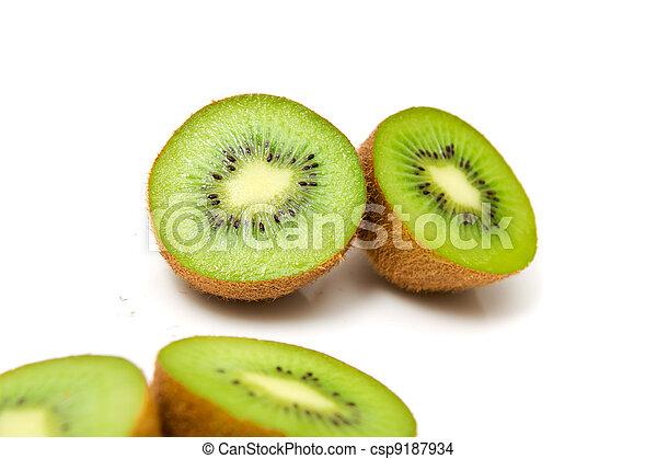 kiwi on a white background - csp9187934
