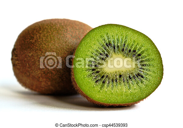 Kiwi on a White Background - csp44539393