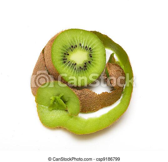 kiwi on a white background - csp9186799