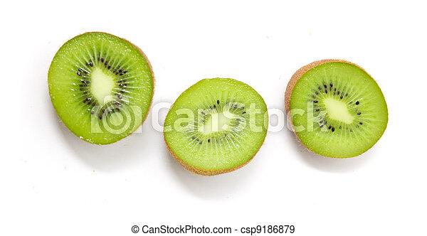 kiwi on a white background - csp9186879
