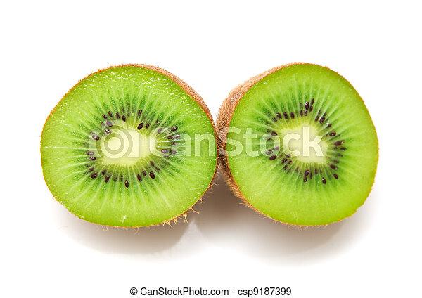 kiwi on a white background - csp9187399