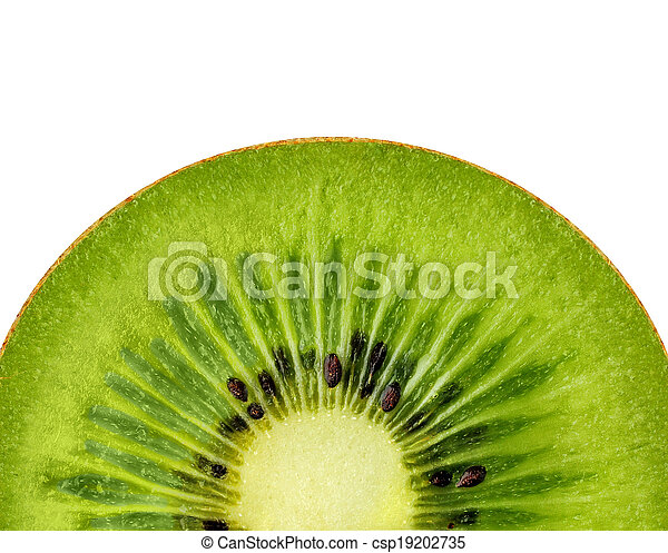 Kiwi on a white background - csp19202735