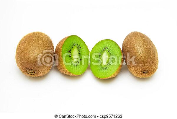 kiwi on a white background - csp9571263