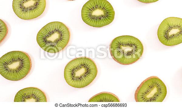 kiwi slice background - csp56686693