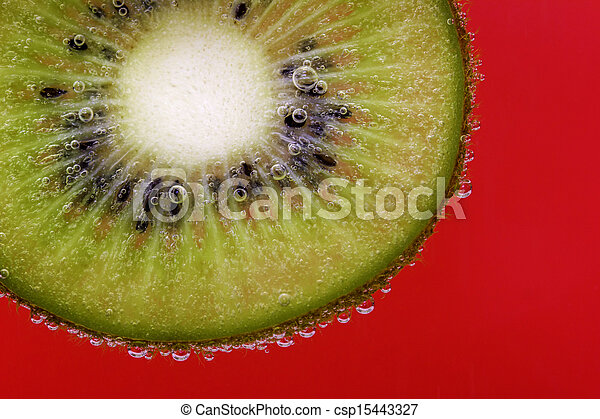Kiwi slice carbonated water red - csp15443327