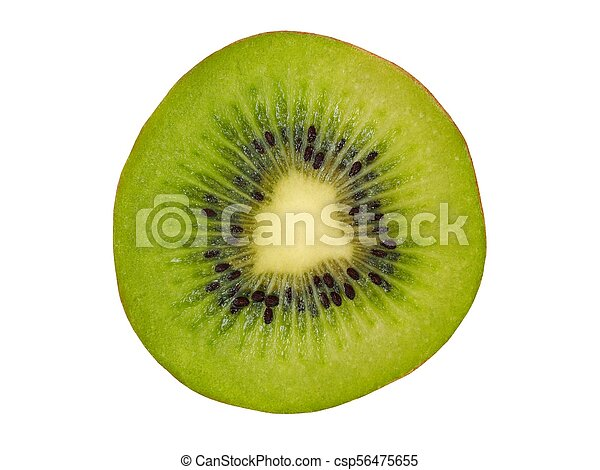 Kiwi slice on white - csp56475655