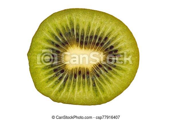 Kiwi slice on white - csp77916407