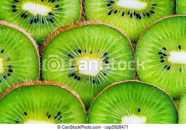 kiwi slices background - csp2928471