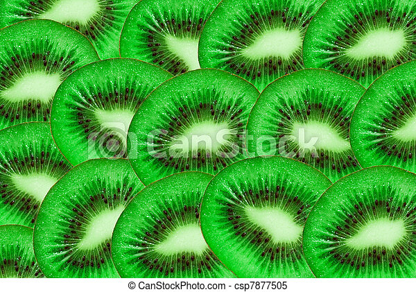 Kiwi slices background - csp7877505