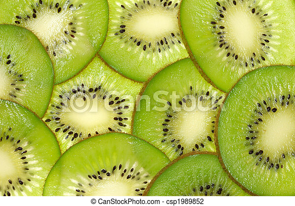 Kiwi slices background - csp1989852