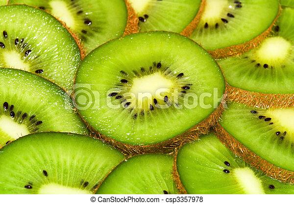 kiwi slices nackground - csp3357978