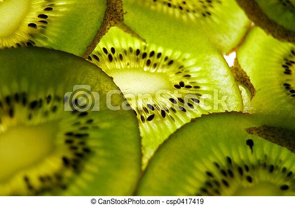 Kiwi slices - csp0417419