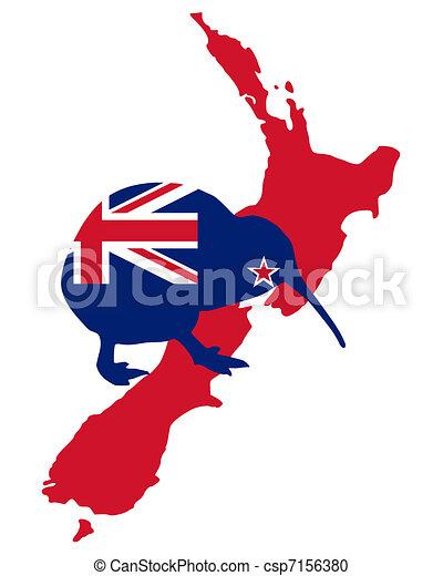 kiwi, zeeland, nieuw - csp7156380