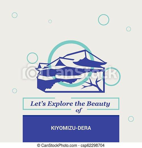 Vamos a explorar la belleza de kiyomizu-dera kyoto, hitos nacionales de Japón - csp62298704