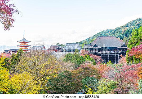 Kiyomizu or Kiyomizu-dera temple in autum season at Kyoto. - csp48585420