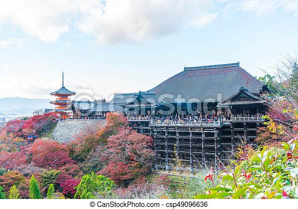 Kiyomizu or Kiyomizu-dera temple in autum season at Kyoto. - csp49096636