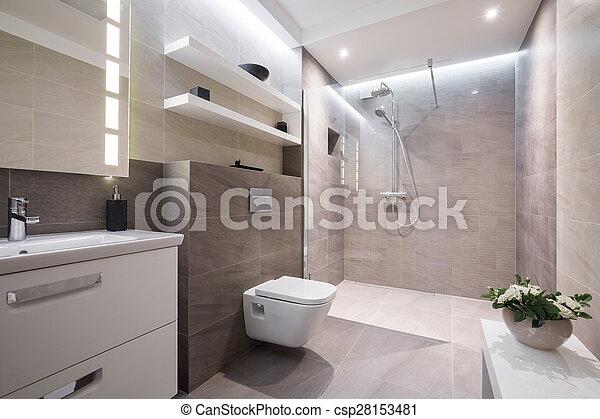 kizárólagos, fürdőszoba, modern - csp28153481
