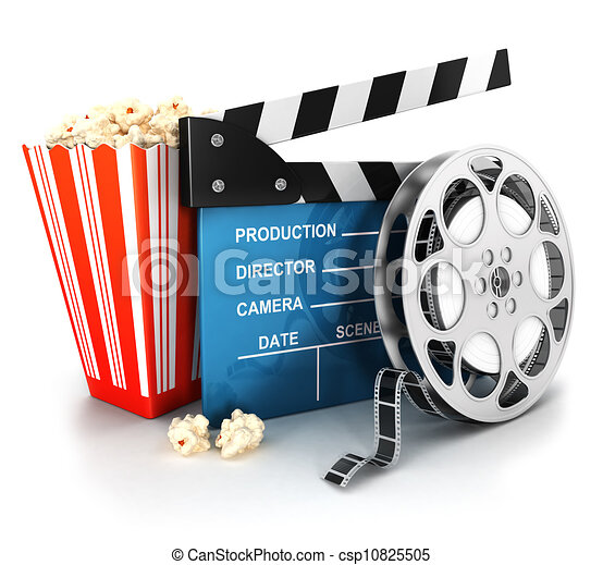 kläpp, 3, rulle, film, bio - csp10825505