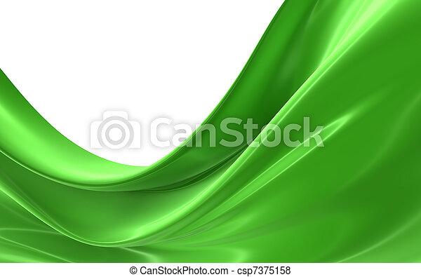 klæde, abstrakt, grønne - csp7375158