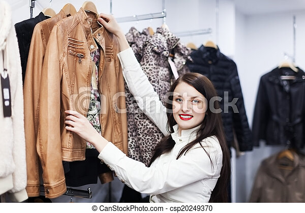 klant, jas, winkel, kies, fermale - csp20249370