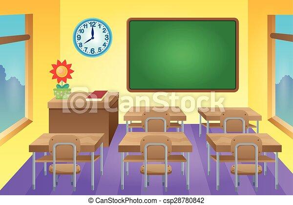 klasa, 1, temat, wizerunek - csp28780842