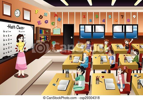 klasa, nauczanie, nauczyciel, matematyka - csp29304318