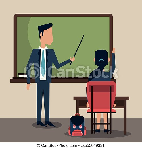 klasa, rysunek, nauczyciel - csp55049331