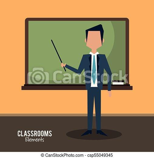 klasa, rysunek, nauczyciel - csp55049345