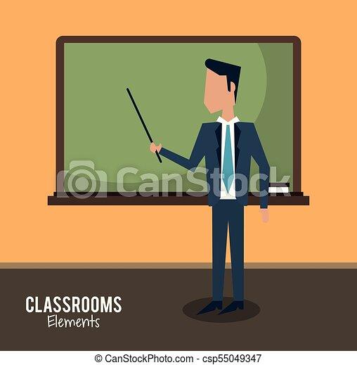 klasa, rysunek, nauczyciel - csp55049347