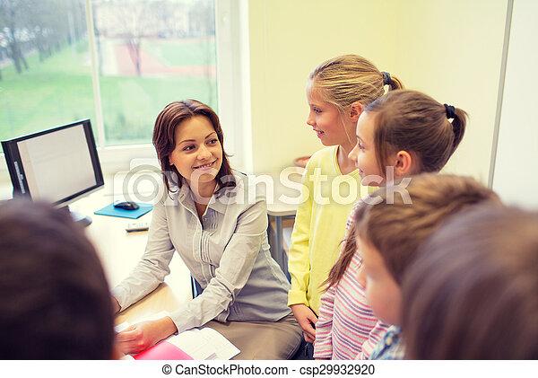 klasa, sztubacy, grupa, nauczyciel - csp29932920
