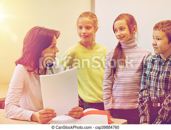klasa, sztubacy, grupa, nauczyciel - csp39884760