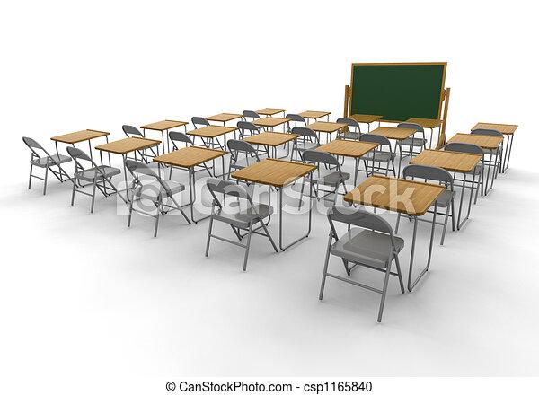 klaslokaal, lege - csp1165840