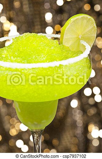 klassisch, cocktail, margarita - csp7937102