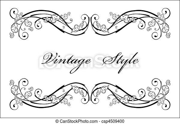 Klassische Vignette - csp4509400