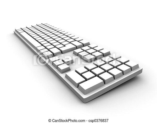 klaviatura, -, neposkvrněný - csp0376837