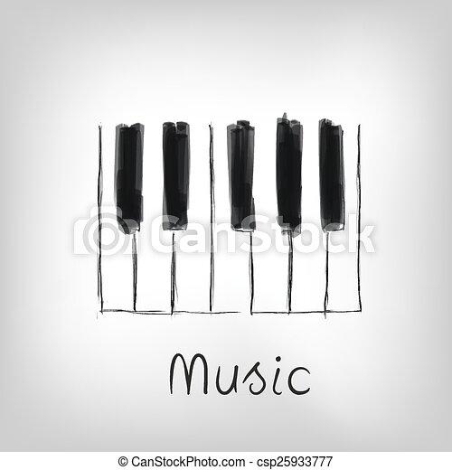 klavier, kunst - csp25933777