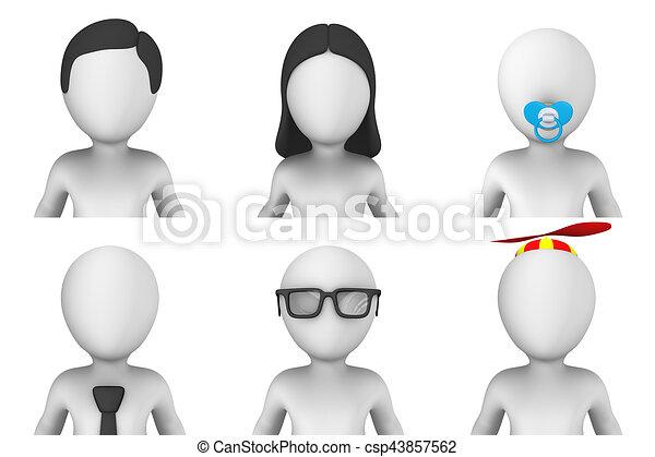 Avatar von 3d kleinen Menschen - csp43857562