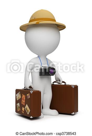 3d kleine Leute - Tourist - csp3738543