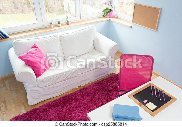 Klein meisje slaapkamer schattig weinig niet zo veel sofa