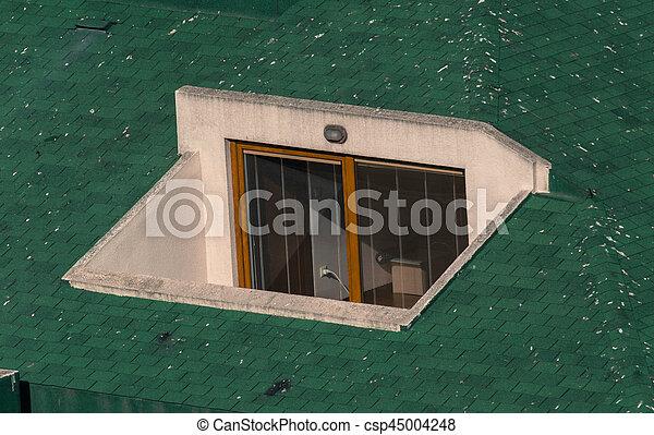 Klein Oberseite Grun Terrasse Dach